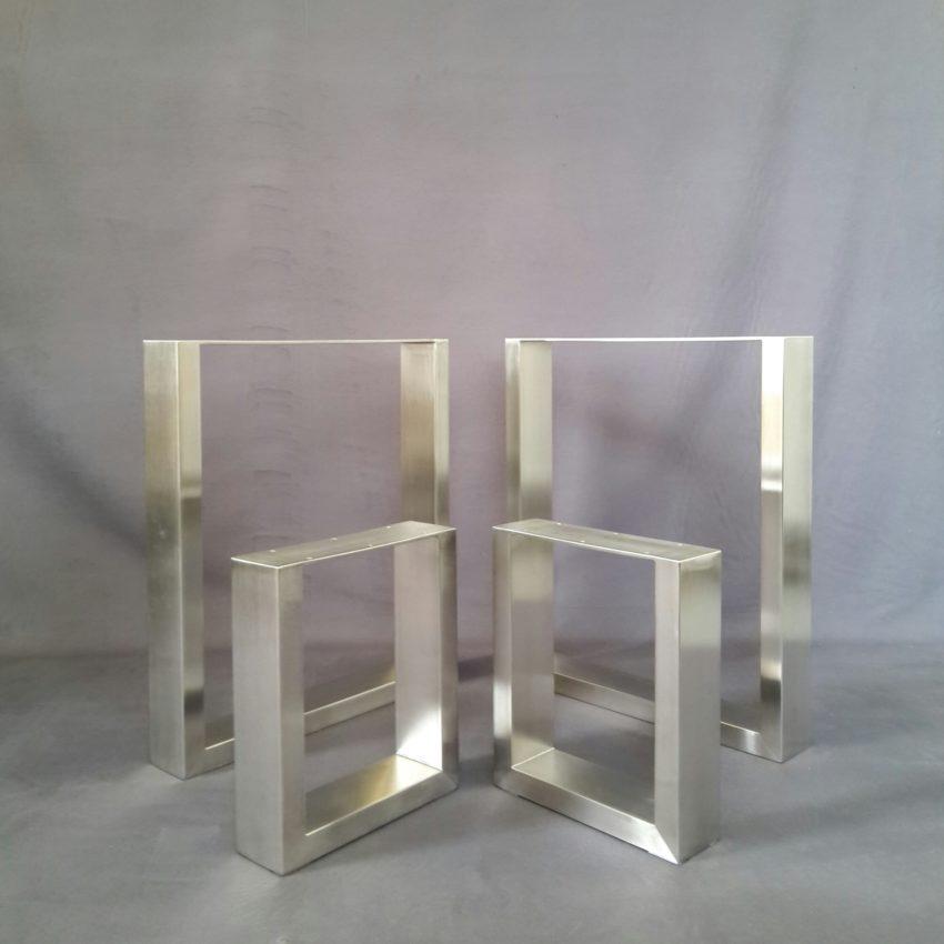 Tisch- Bankkufen aus Profilmaterial